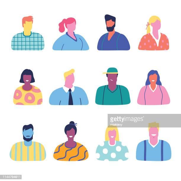 ilustrações, clipart, desenhos animados e ícones de coleção dos avatars dos povos - mulher de negócios