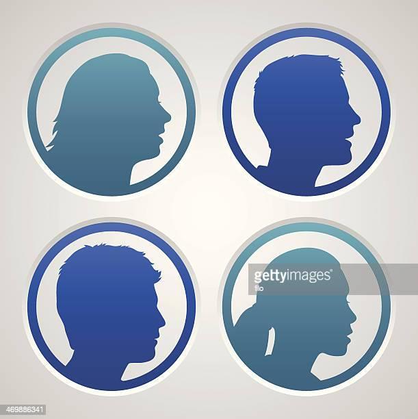 people avatars - generic description stock illustrations, clip art, cartoons, & icons