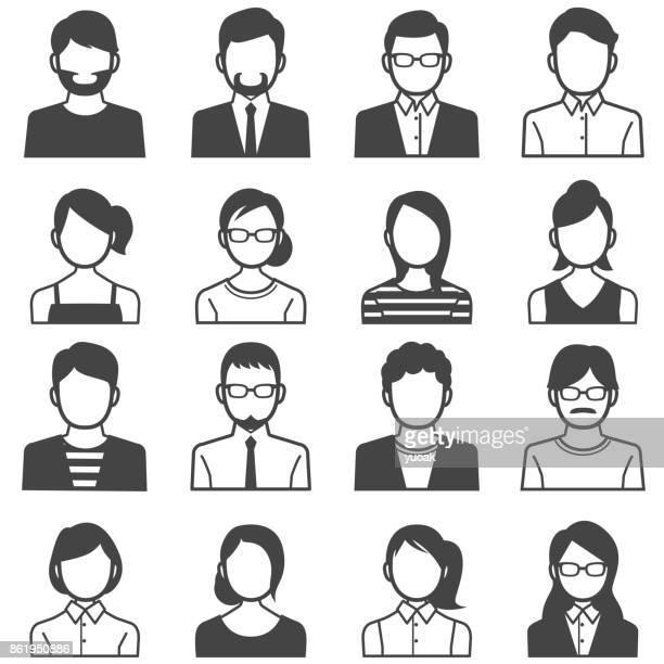 people avatars - ethnicity stock illustrations