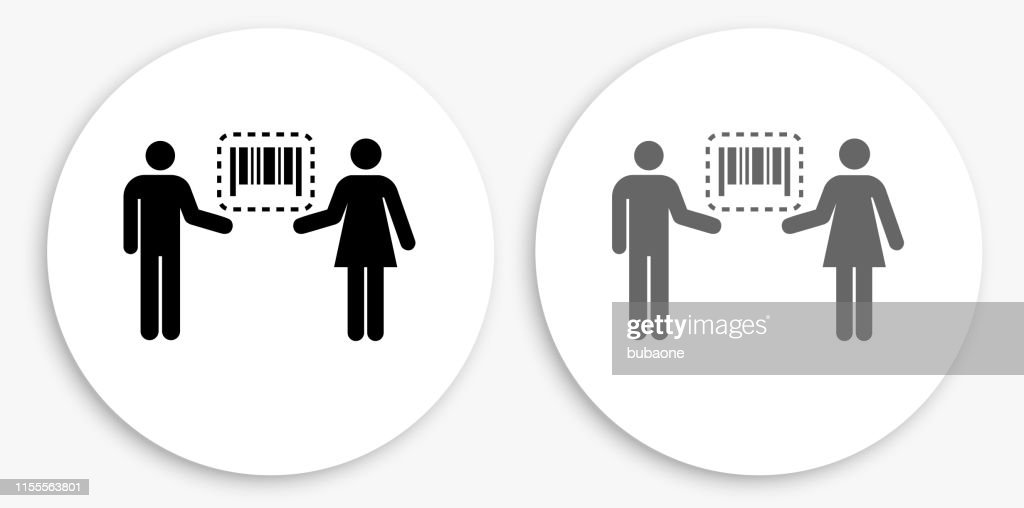 Barcode On Wrist Of Human Hands. Concept Of Global