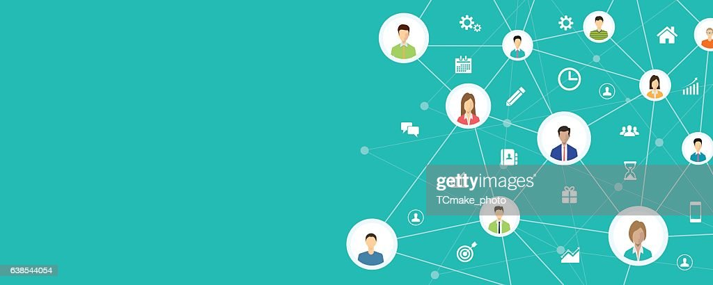 people business connection on social network online
