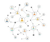 people business online connection concept