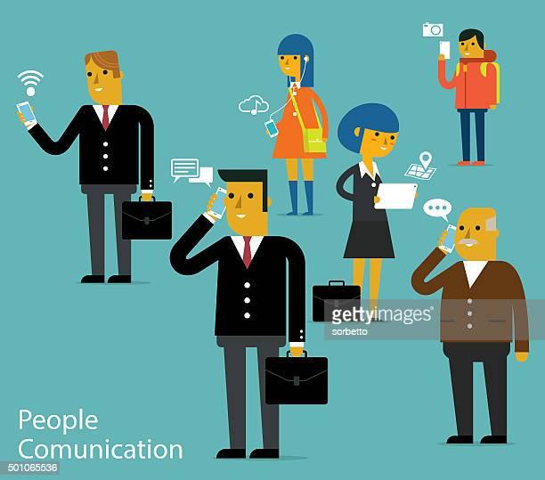 ilustrações de stock, clip art, desenhos animados e ícones de pessoas comunication - jovem adulto