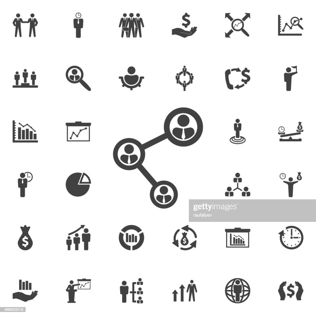 People connecting icon.