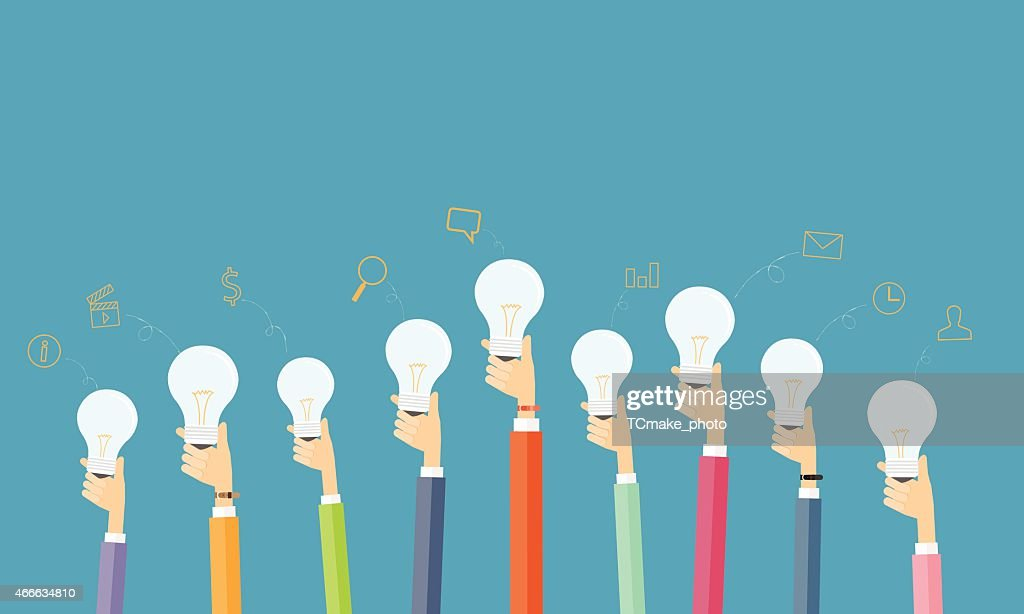 people creative and brainstorm idea for business