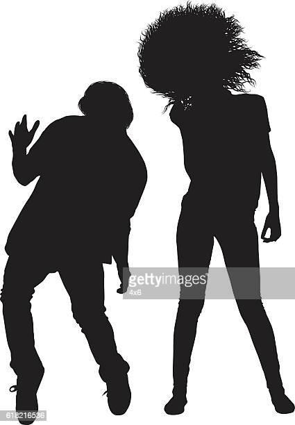 ilustraciones, imágenes clip art, dibujos animados e iconos de stock de gente baile - pareja bailando cuerpo entero
