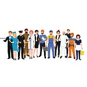 People different profession. Man and woman vector illustration set