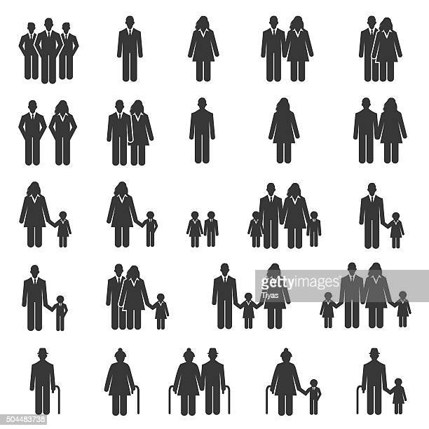 People Family Icons - Illustration