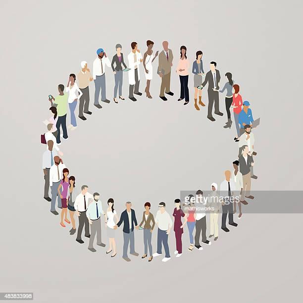 People forming circle
