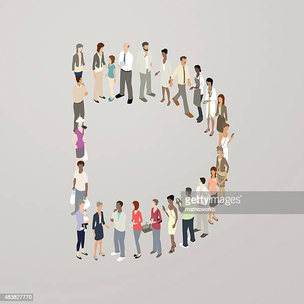 people forming the letter d - letter d stock illustrations, clip art, cartoons, & icons