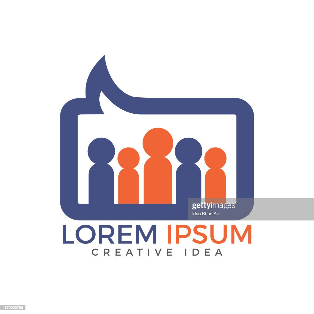 People Forum or community chat vector design.