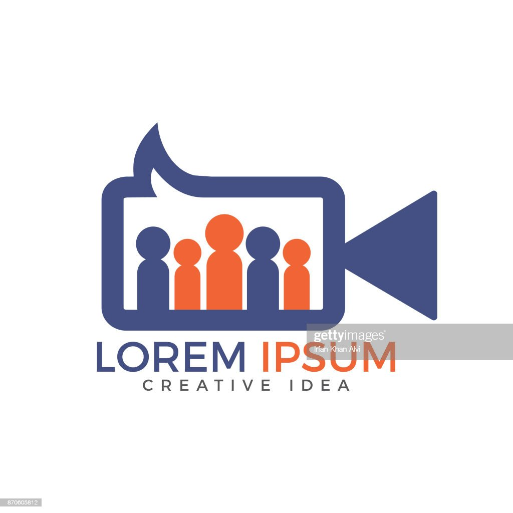 People Forum or community video chat vector design.