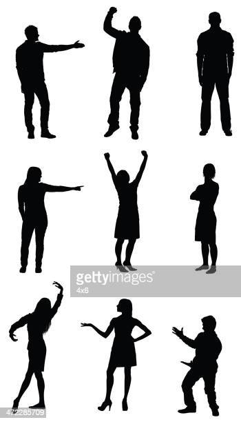 people gesturing - aiming stock illustrations