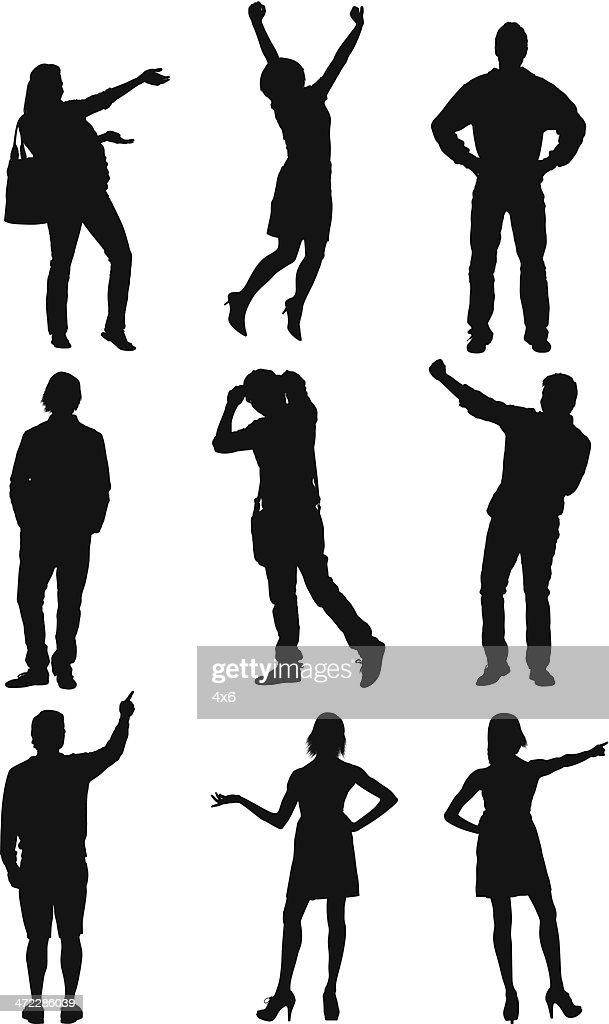 People gesturing