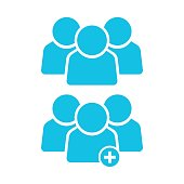 people group icon isolated vector