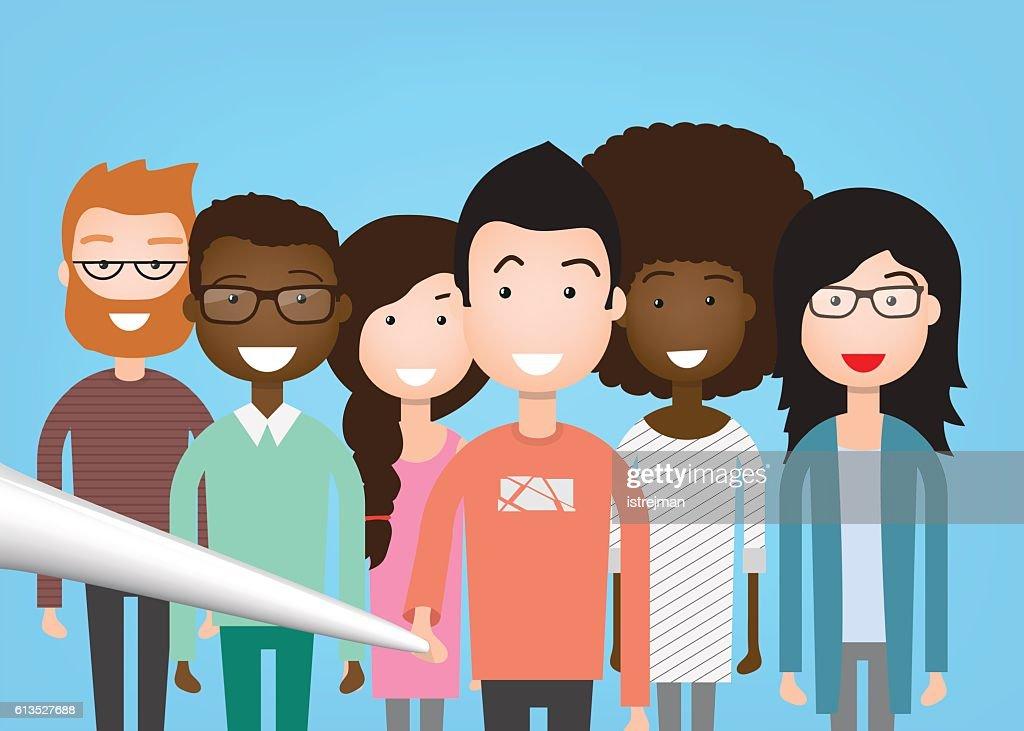 People Group Taking Selfie