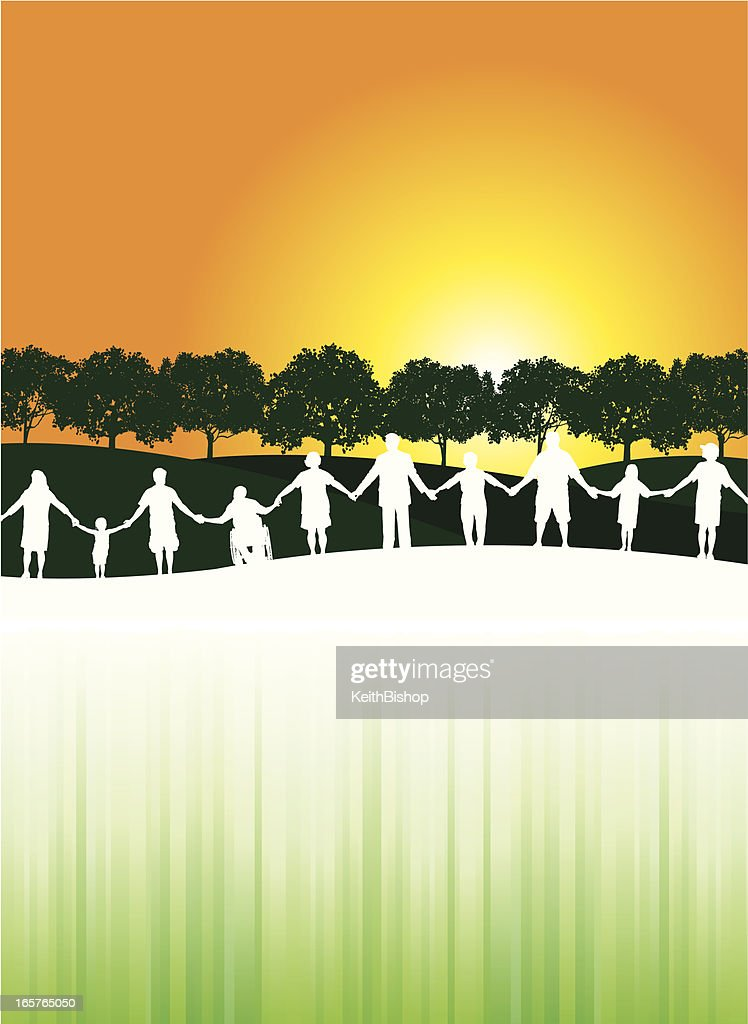 People Holding Hands Unity Community Background stock