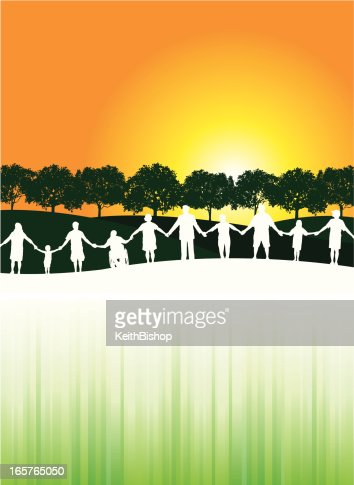 People Holding Hands Unity Community Background Vector Art