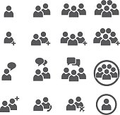People Icon Business teamwork user Vector