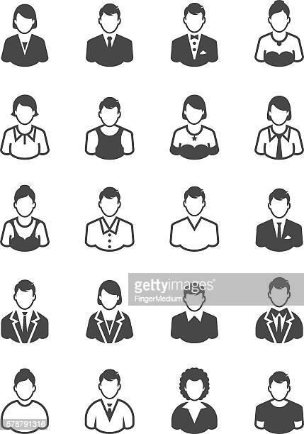 people icon set - torso stock illustrations