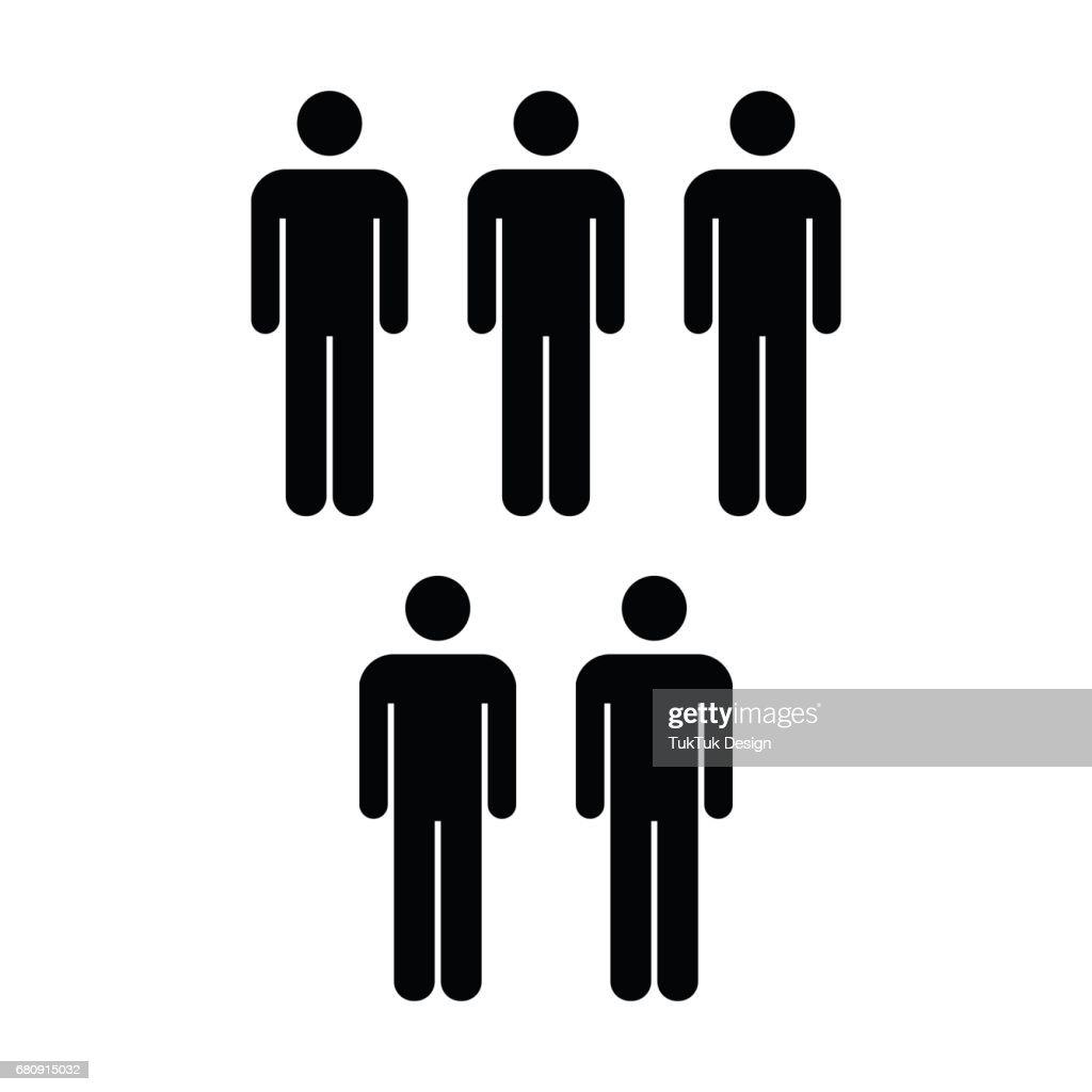 People Icon - Vector Men Symbol in Glyph Pictogram illustration