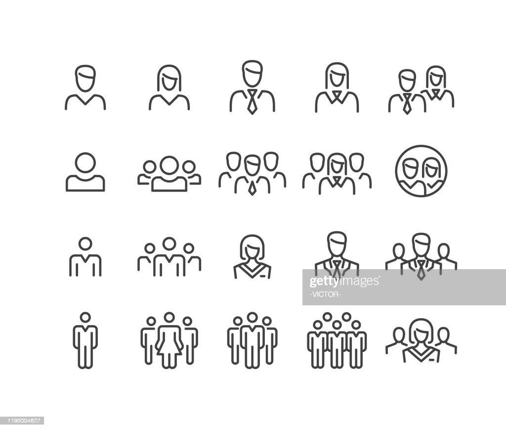Menschen Icons - Classic Line Series : Stock-Illustration