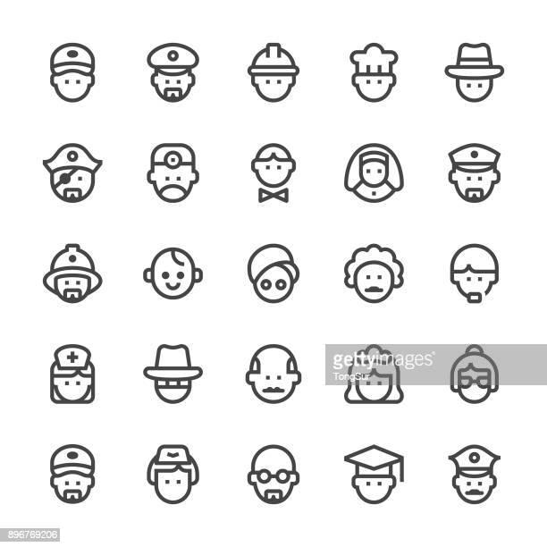 People Icons - MediumX Line