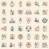 people icons outline