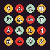 People icons - Regular Outline - Circle