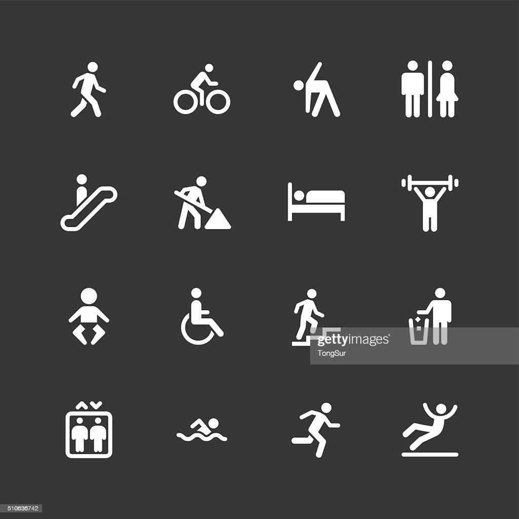 People icons - Regular - White Series