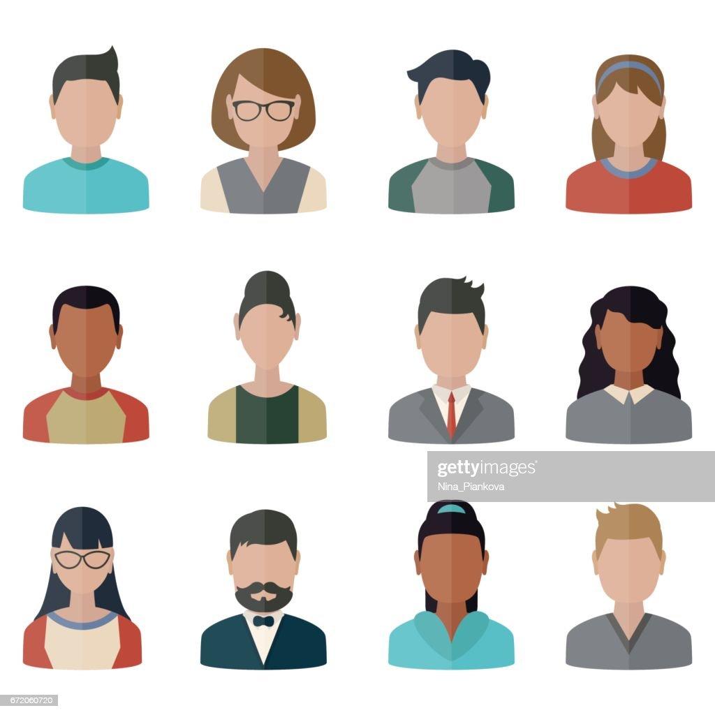 People icons set.
