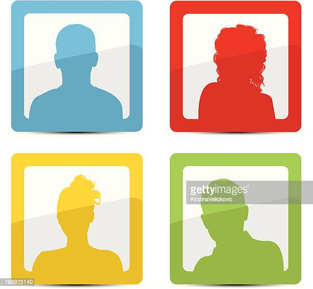people icons - school uniform stock illustrations, clip art, cartoons, & icons