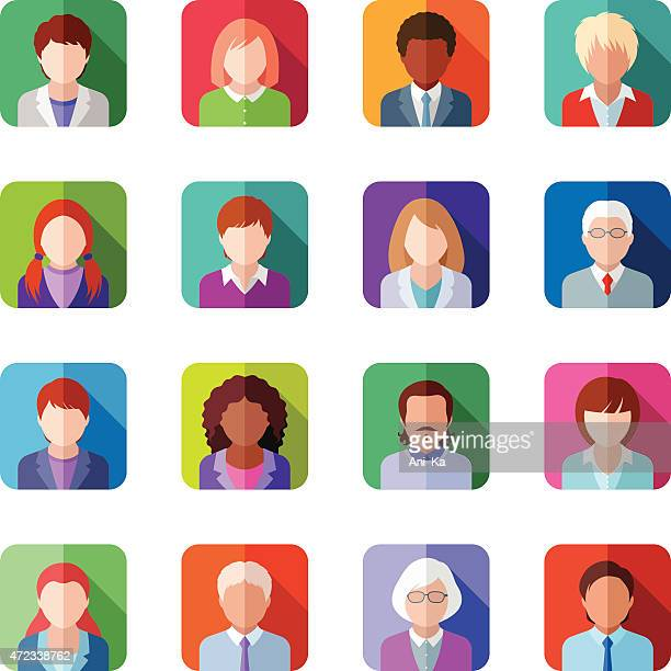 people icons - senior adult stock illustrations, clip art, cartoons, & icons