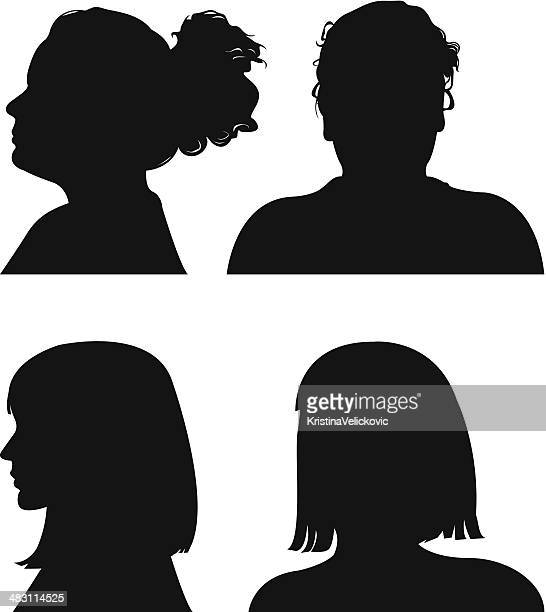 people icons - profile view stock illustrations