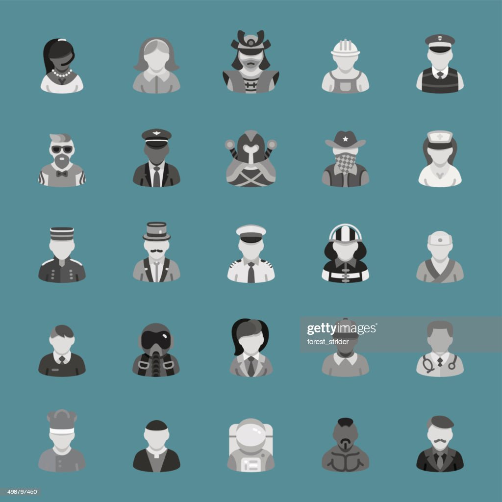 People Icons : stock illustration