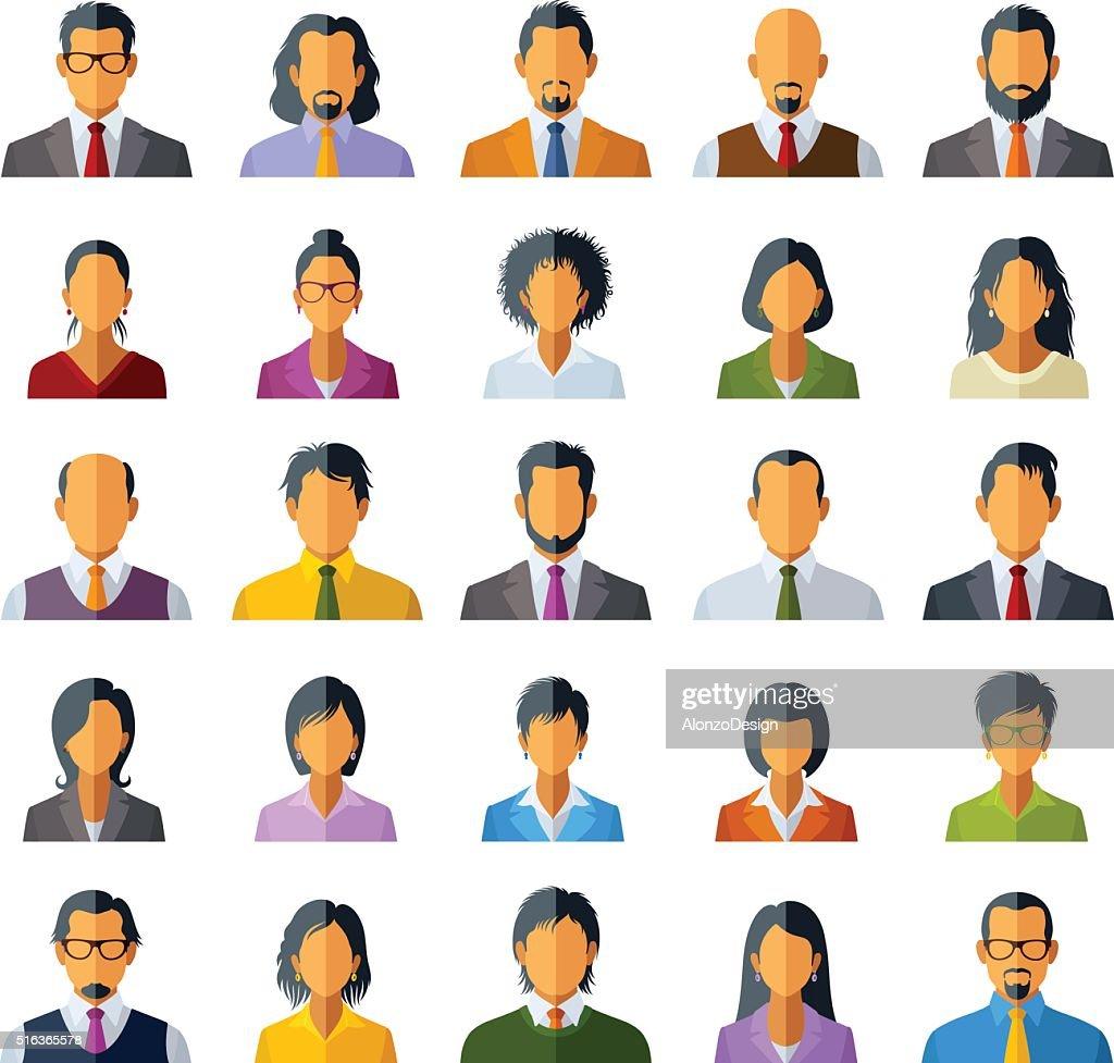 People icons : stock illustration