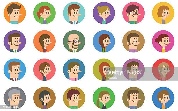 ilustraciones, imágenes clip art, dibujos animados e iconos de stock de iconos de personas - madre e hija
