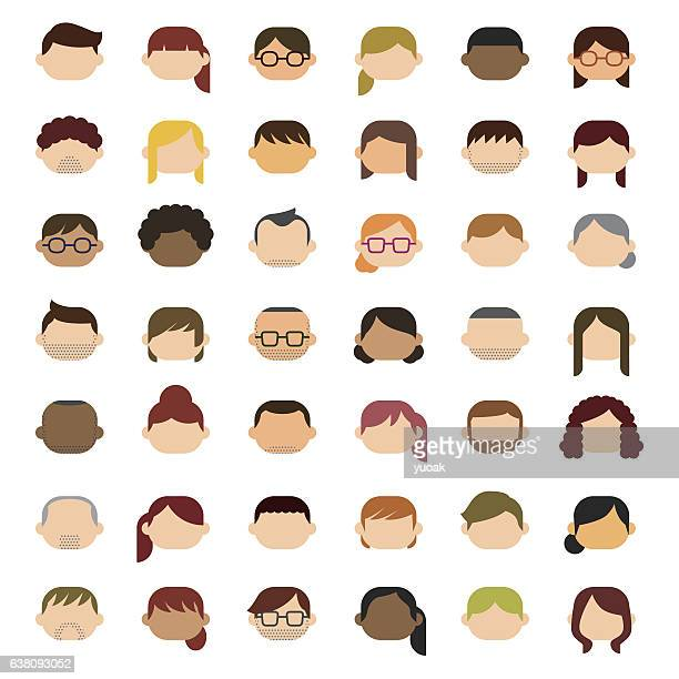 people icons - part of a series stock illustrations
