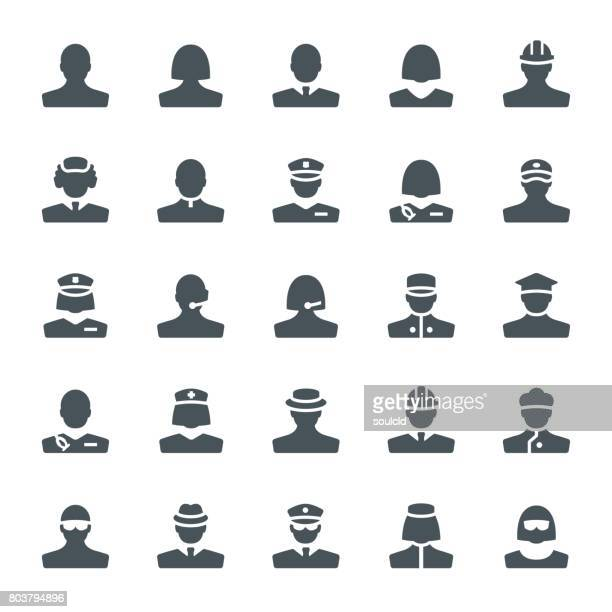 people icons - military personnel stock illustrations, clip art, cartoons, & icons