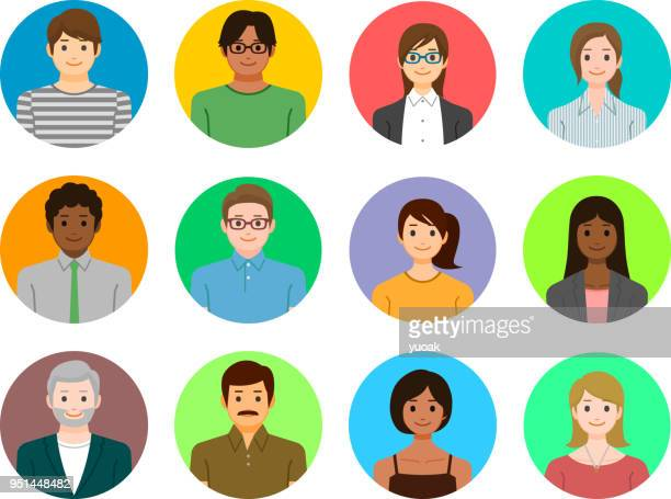 people icons - characters stock illustrations