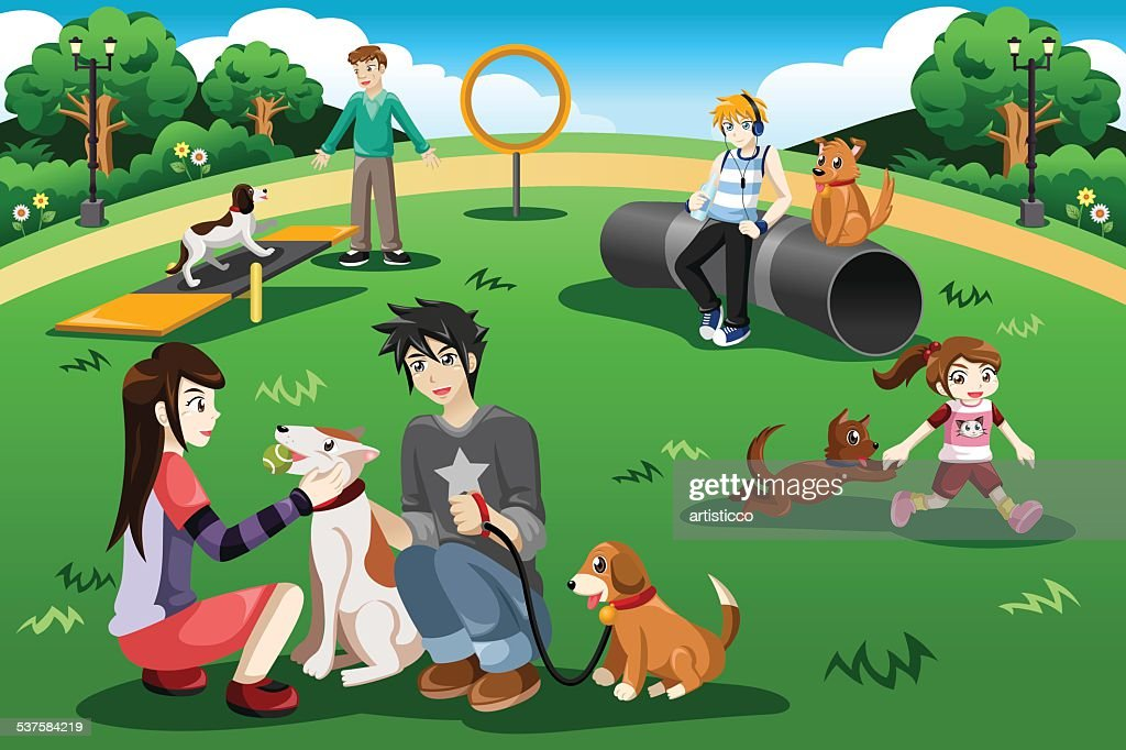 People in a dog park