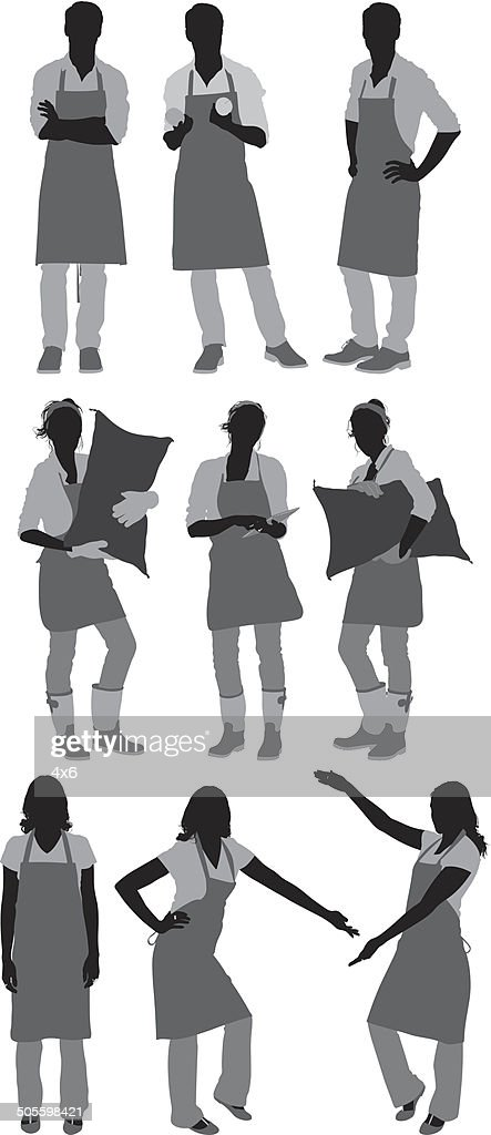 People in apron : stock illustration