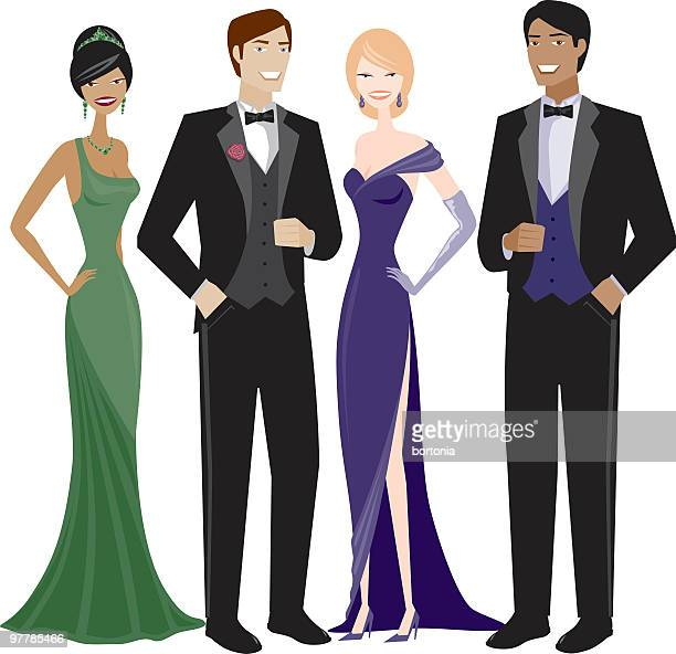 People in Evening Wear