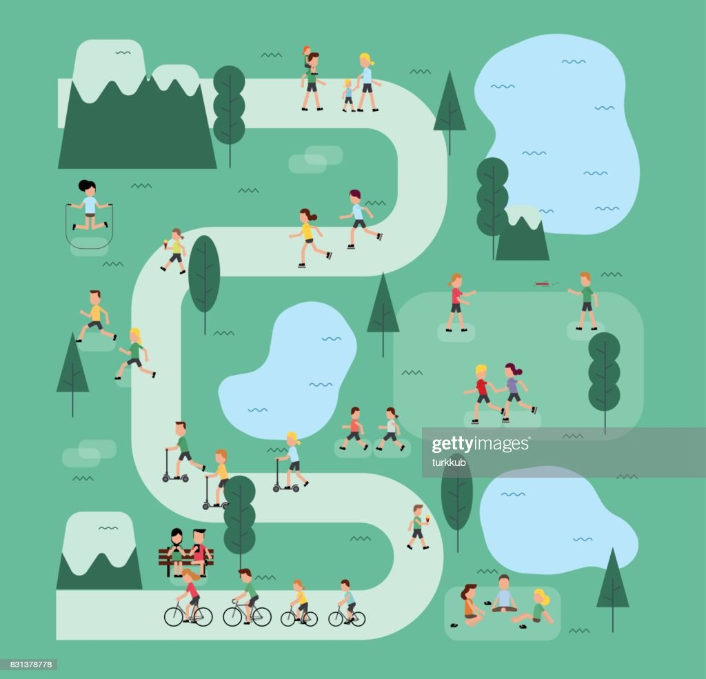 People in the park. People character vector illustration flat design