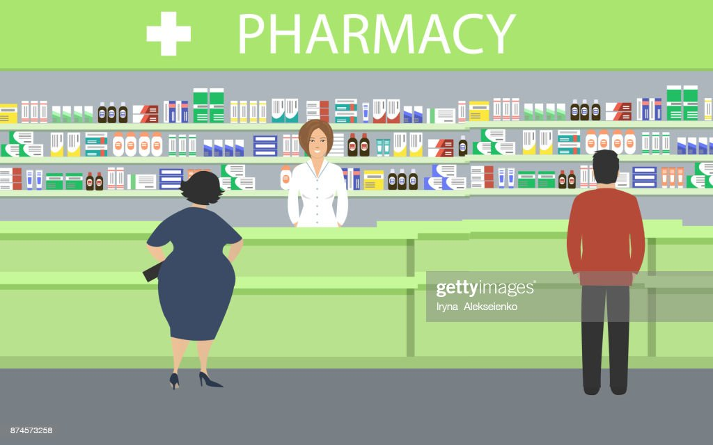 People in the pharmacy