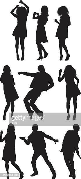 people in various actions - dancing stock illustrations