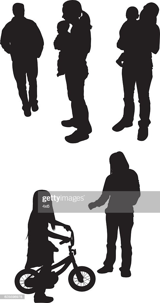 People in various actions : stock illustration