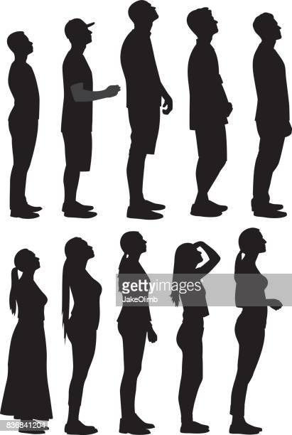 People Looking Up Silhouettes 2