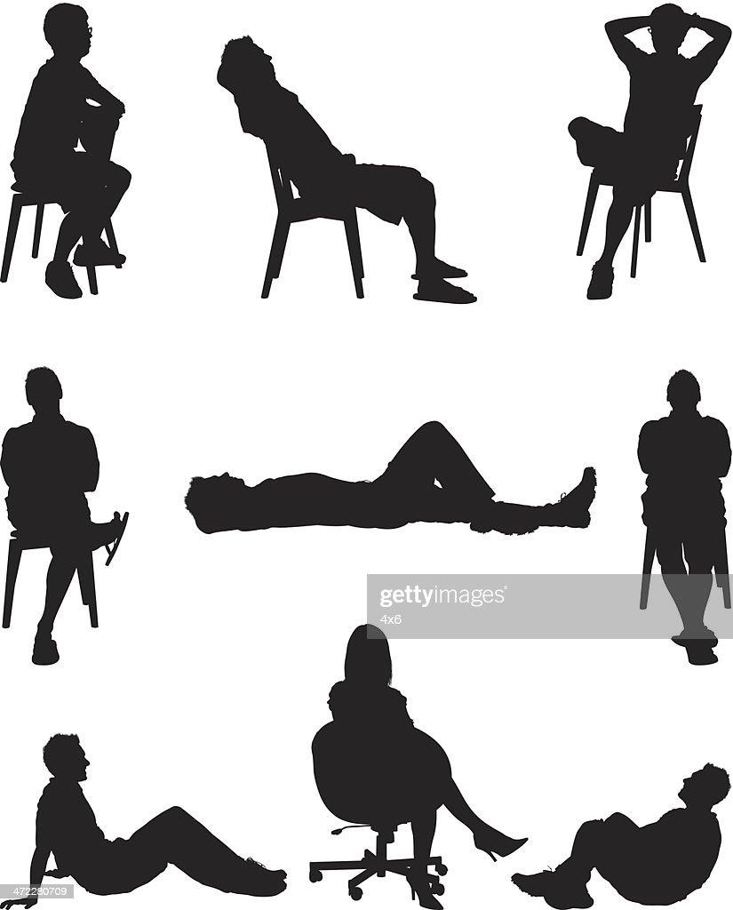 People lounging around : stock illustration