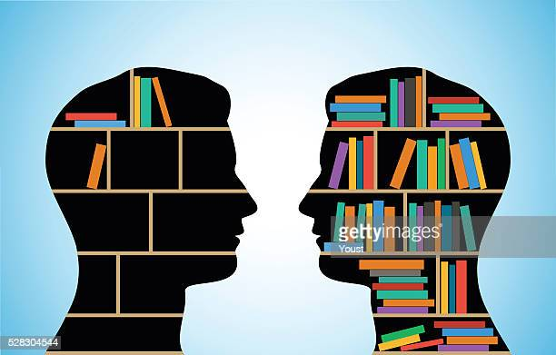 people of different intellectual level - library stock illustrations